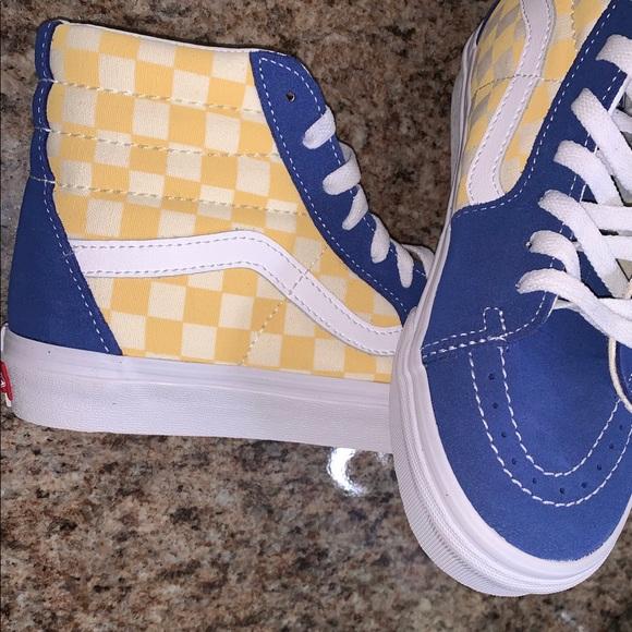 b14af4459ab8fb Vans Sk8-Hi BMX Checkerboard Skate Shoes